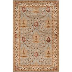Surya Bungalo BNG-5014 Classic Hand Tufted 100% New Zealand Wool Silvered Gray 5' x 8' Arts and Crafts Area Rug Surya http://www.amazon.com/dp/B008B6O50G/ref=cm_sw_r_pi_dp_9P7xwb1EQB1MG