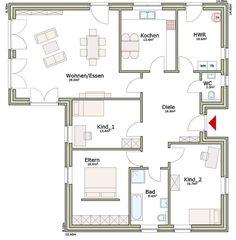 plan 132 unser winkelbungalow mit ber 130 m grundriss ein bungalow mit berdachter. Black Bedroom Furniture Sets. Home Design Ideas