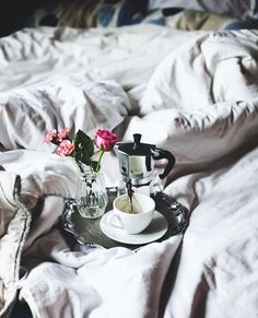 Breakfast in bed with the one you <3