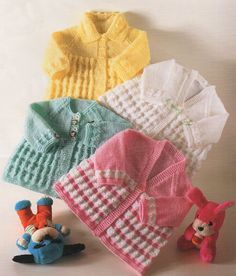 Premature Baby or Doll Knitting Pattern Matinee Coats pdf