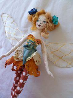OOAK Fairy Art Doll  Ilianna Delphie Walbywoode by paulasdollhouse