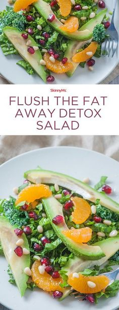 Restock your body with badly needed nutrients with our Flush The Fat Away Detox Salad!