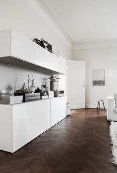 by Daniella Witte . Love the parquet with white units