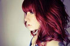 Perfect wine color hair!