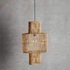 Large rattan lampshade