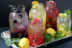Fruit and Herb infused water recipes Refreshing Drinks, Summer Drinks, Fun Drinks, Healthy Drinks, Summer Food, Summer Fruit, Healthy Food, Smoothie Drinks, Smoothies