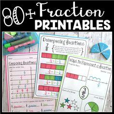 80+ Fraction Printables - Create●Teach●Share