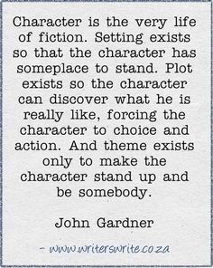 character is the very life of fiction...