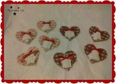 Addobbi natalizi in panno e pasta di ceramica ….