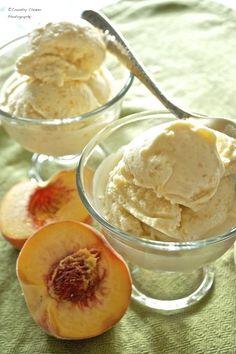 Peach Custard Ice Cream - Country Cleaver