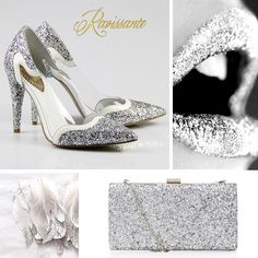 If you want to add some glowing details to your wedding, silver glitter is always a good ideea! Silver Glitter, Wedding Themes, Wedding Details, Dream Wedding, Wedding Inspiration, Shoes, Beautiful, Color, Fashion