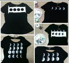 Moon tee DIY. Angel we should do these together!!!