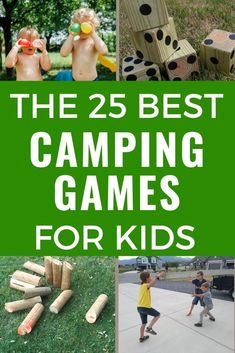 These are the best camping games for kids! Fun outdoor games kids love for your next family camping trip! Includes nature activities, night camping games, and family games that are fun for kids and adults. Plus camping games for tweens and teens. Choose your favorite kids' camping games before your next family campout! #campinggames #outdoorgames #kidsgames #familygames Outdoor Summer Activities, Outdoor Games For Kids, Nature Activities, Kid Activities, Family Camping Games, Family Games, Camping Ideas, Tween Games, Business For Kids