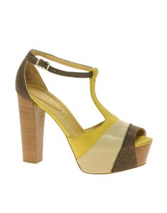 color block t bar sandals / see by chloe