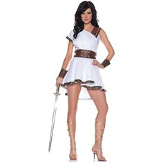 Olympia Greek Warior Goddess Athena Roman Gladiator Sexy Fancy Dress Costume | eBay