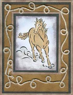 STAMPIN' UP!  Brushstroke Horses (retired)