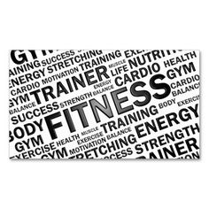 Simple Personal Trainer Fitness Business Cards Fitness Business - Fitness business card template