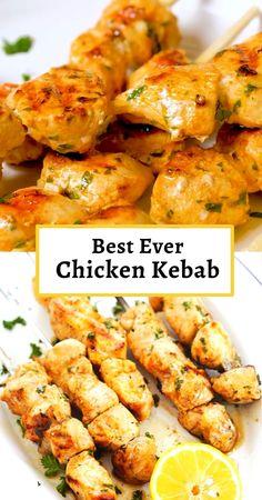 Kebab Recipes, Mexican Food Recipes, Appetizer Recipes, Real Food Recipes, Cooking Recipes, Healthy Recipes, Best Easy Recipes, Healthy Recipe Videos, Dinner Recipes