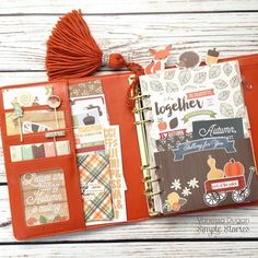 Persimmon Carpe Diem planner with the Hello Fall collection from creative team member Vanessa Dugan