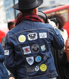 MENS DENIM JACKET WITH PATCHES