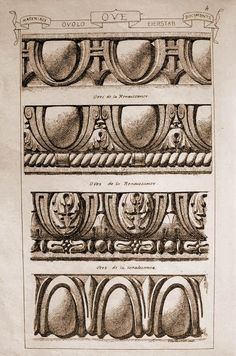 Materials and documents of architecture and sculpture : classified alphabetically Architecture Antique, Art And Architecture, Architecture Details, Stone Carving, Wood Carving, Baroque Frame, Stencil, Carving Designs, Mural Art