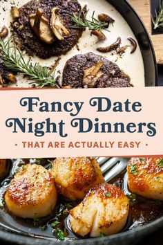 21 Fancy Date Night Dinners That Are Actually Easy 21 Easy Yet Impressive Valentine& Dinner Recipes The post 21 Fancy Date Night Dinners That Are Actually Easy & Dinner appeared first on Dinner recipes . Dinner Date Recipes, Romantic Dinner Recipes, Date Dinner, Romantic Meals, Gourmet Dinner Recipes, Easy Romantic Dinner, Birthday Dinner Recipes, Date Night Appetizers At Home, Anniversary Dinner Recipes