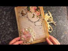 Butterfly Vintage journal #vintagejournals #junkjournaljunkies - YouTube