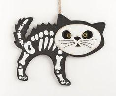 "13"" Hanging Wood Skeleton Cat Halloween Decor . $15.00. Rustic Decor. 13"" Hanging Wood Skeleton Cat Halloween Decor. 13"" Hanging Wood Skeleton Cat Halloween Decor"