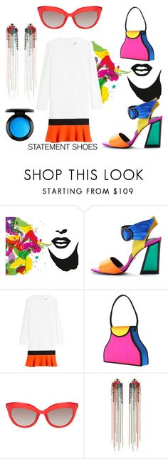"""""""Neon"""" by clori86 ❤ liked on Polyvore featuring Brewster Home Fashions, Kat Maconie, Emilio Pucci, Mimi Wade, MAC Cosmetics, neon, shoes and statement"""