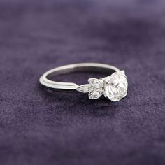 A 1.12ct Old European Cut Diamond Engagement Ring. Sold by Estate Diamond Jewelry.