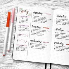If you need bullet journal inspiration, here are the best bullet journal weekly spreads you can copy to stay organized. Be more productive with your bujo! Bullet Journal School, Bullet Journal Weekly Layout, Bullet Journal Notebook, Bullet Journal Aesthetic, Bullet Journal Spread, Bullet Journal Ideas Pages, Monthly Spread, Bullet Journal Minimalist, Journal Organization