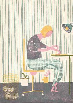 Barbara Dziadosz Print in Pastel inspiration