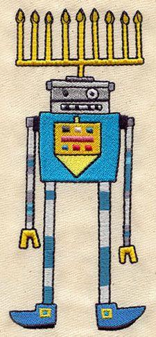 Robot Menorah design (UT3976) from UrbanThreads.com