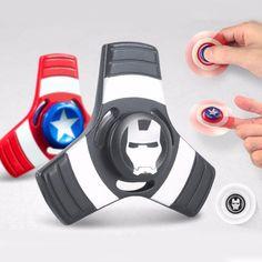Tri | Captain America Fidget Spinner | Iron Man Hand Spinner | Avengers Spinner #1hrdeals