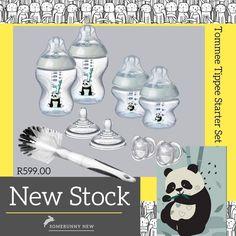 This adorable Panda will keep your little one company... 2 x 150ml decorated feeding bottle 2 x 260ml decorated feeding bottle 2 x medium flow teats 2 x 0-6m anytime soothers 1 x bottle and teat brush #tommeetippee #bottles #newbornstarterset #panda #gendernuetral #adorable #somebunnynew Bottle Feeding, Panda, Flow, Bottles, Gender, Cool Stuff, Medium, Pandas, Music Genre