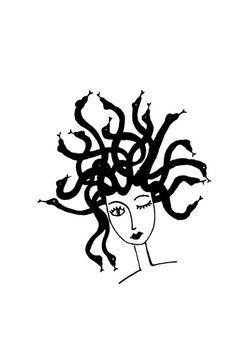 """Francesca Manuguerra's draw """"medusa"""""""