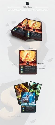 Boardgame Card Design - Skytear on Behance Game Icon Design, Game Card Design, Board Game Design, Game Concept, Game Assets, Cards For Friends, Illustrations And Posters, Cool Cards, Game Art