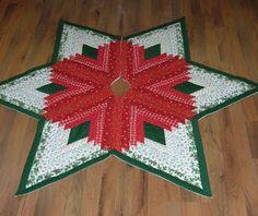 Love this star Christmas tree skirt