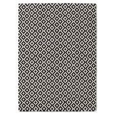 Image NEVIO Black and White Tufted Wool Rug La Redoute Interieurs