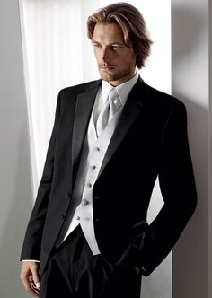 General idea of the tuxes...groomsmen will have all black...Adam will have white accessories.