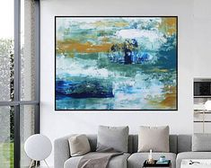Original Large Abstract paintings By Professionals by WallAbstract Large Artwork, Original Artwork, Abstract Paintings, Abstract Art, Beautiful Homes, Tapestry, The Originals, House Of Beauty, Hanging Tapestry