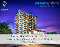 #SpoiltForChoice Home that offer a lifestyle par excellence spacious 2 & 3 BHK Homes at Aseem Vishwa, Chinchwad  For project details contact us on - +91 7767998822   +91 7770019105   www.vishwadevelopers.com  #VishwaDevelopers #Aseemvishwa #Chinchwad #2BHK #3BHK #Pune