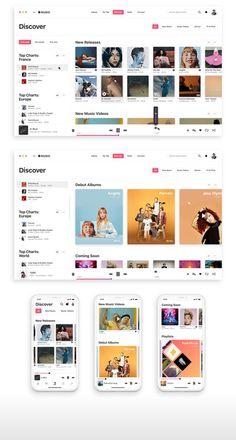 In-depth design proposal for a slightly better app. App Ui Design, Dashboard Design, User Interface Design, Design Web, Graphic Design, Music Website Templates, Gnu Linux, Logos Retro, Software