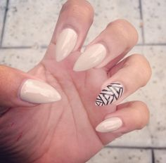 I want almond shaped nails