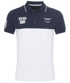 0c37712194f Hackett Aston Martin Racing Panel Polo Shirt Smart Casual Polo Shirt