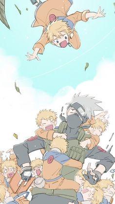 Naruto, Kakashi and Sasuke, by macoto Naruto And Sasuke, Anime Naruto, Naruto Team 7, Naruto Fan Art, Kakashi Sensei, Naruto Cute, Sasunaru, Naruto Funny, Naruto Shippuden Sasuke