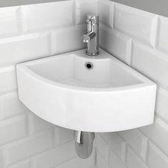Bermuda Corner Cloakroom Basin 1TH - 325 x 325mm