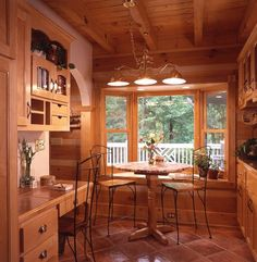 View photos of a perfect chinked square log cabin designed & milled by Honest Abe Log Homes; family owned/operated since 1979; nationwide sales & delivery.