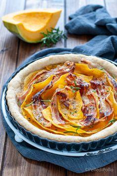 Gustosissima #tortasalata con #zucca e #pancetta affumicata, senza pasta sfoglia #ricetta #antipastisfiziosi #pumpkinrecipes