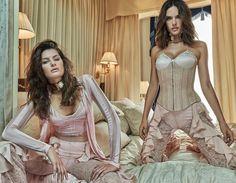 Vogue Brasil October 2016 Isabeli Fontana and Alessandra Ambrosio by Mariano Vivanco